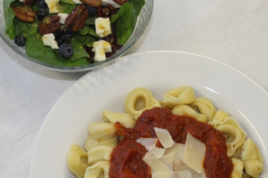 Tortellini with side salad