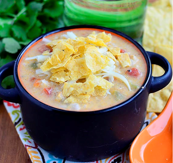 white queso and chicken soup